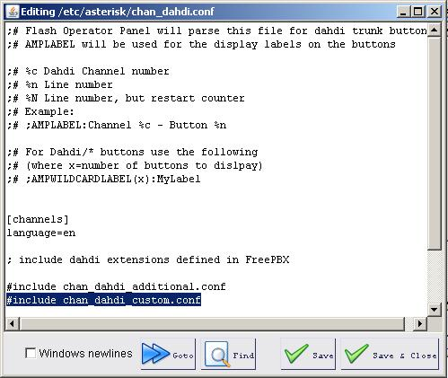 Configuring Asterisk to use Dahdi channels - PBX in a Flash